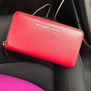 Michael Kors Scarlet Leather Wallet